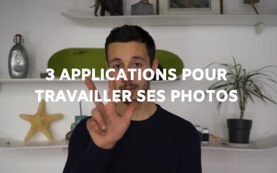 3 Applications pour travailler ses photos